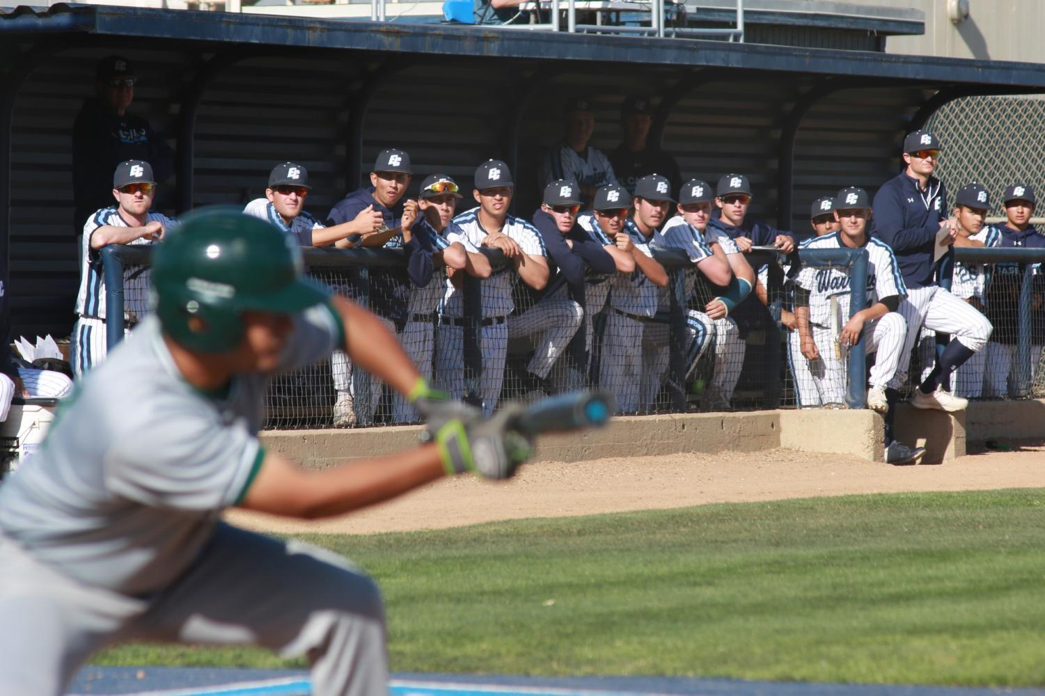 Warriors baseball vs East Los Angeles College on Tuesday, April 17 at El Camino College. Photo credit: Mari Inagaki