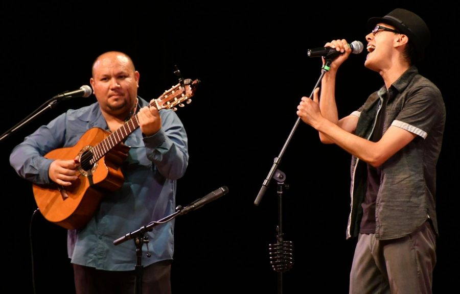 José Martín Marquez and Gustavo Alcoser perform at Marsee Auditorium on Friday, May 11, 2018. Photo credit: Jack Kan