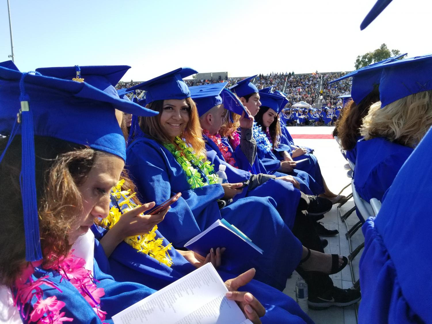 Graduates sitting at the 71st Annual Commencement.