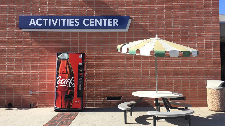 The repaired vending machine. Photo credit: Kevin Caparoso