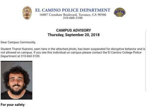Threat made to away baseball game versus Cerritos College