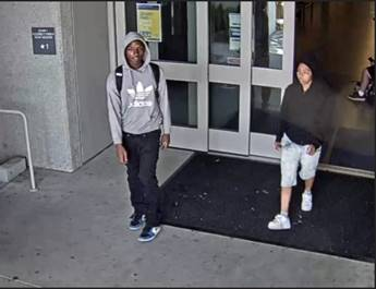 Security image of suspects of a robbery in Lot K Photo credit: Esteban Mendez