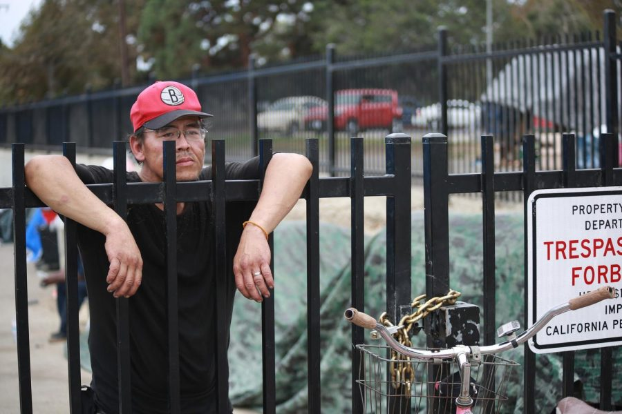 Former encampment resident Jay Tran looks onto Manhattan Beach Boulevard on Oct. 3, 2018, about a week after last years clean-up. Tran lived in the Dominguez Channel for about two years. Photo credit: Mari Inagaki