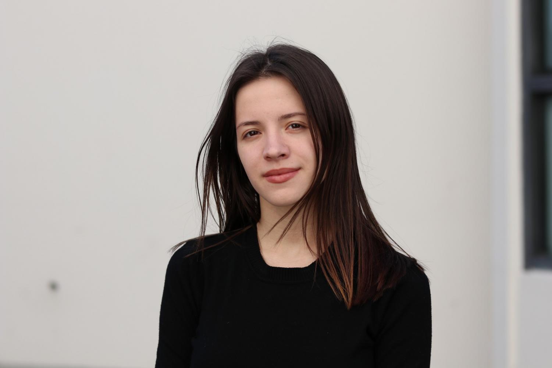 Diana Nekrasova is an international student Vladivostok, Russia. Nekrasova looks forward to starting her new job in the book store. March 6, 2019. Photo credit: Anna Podshivalova