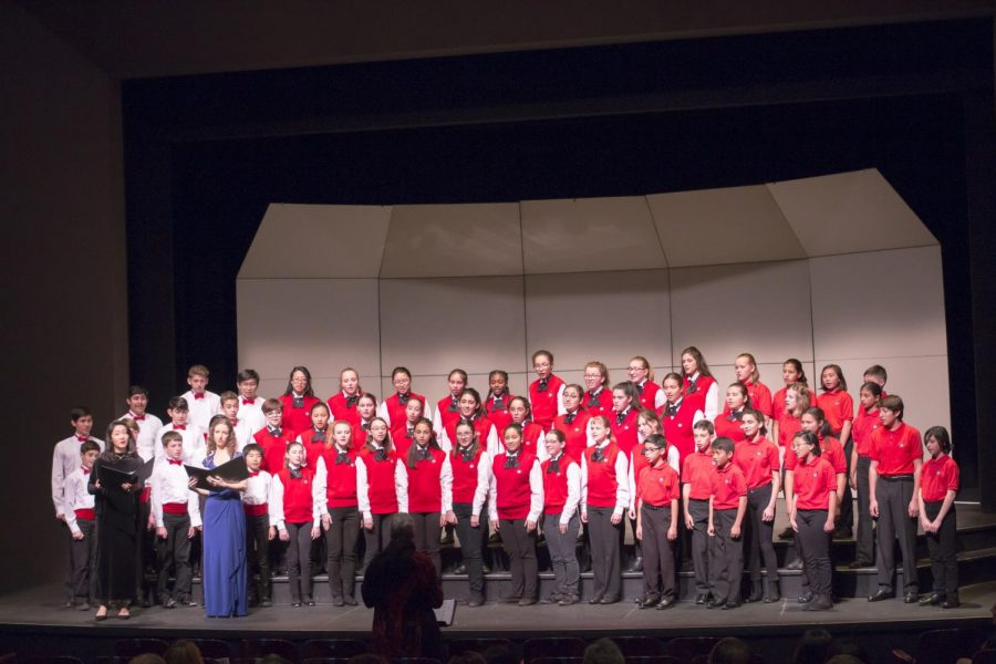 The South Bay Children's Choir, performs on Sunday, Feb. 24, at the Campus Theatre. Photo credit: Mona Itani