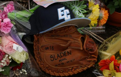 A vigil was held in memory of Warriors starting catcher Sladen Mohl, comprised of everything from candles and flowers to Mohl's glove signed by teammates and the hat he was wearing the night of the incident. Mohl was remembered as a focused, religious and driven student athlete. Photo credit: Rosemary Montalvo