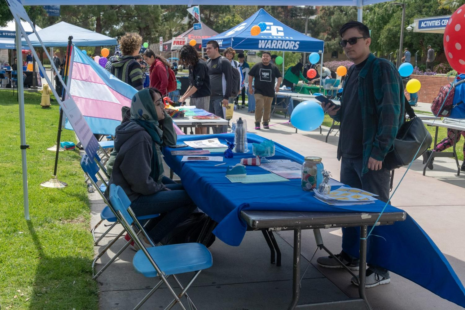El Camino College's ASB Faire was held on the Library Lawn on Wednesday, April 3. The event looked to promote clubs and programs on campus as well as the benefits of the ASB sticker. Photo credit: Elena Perez