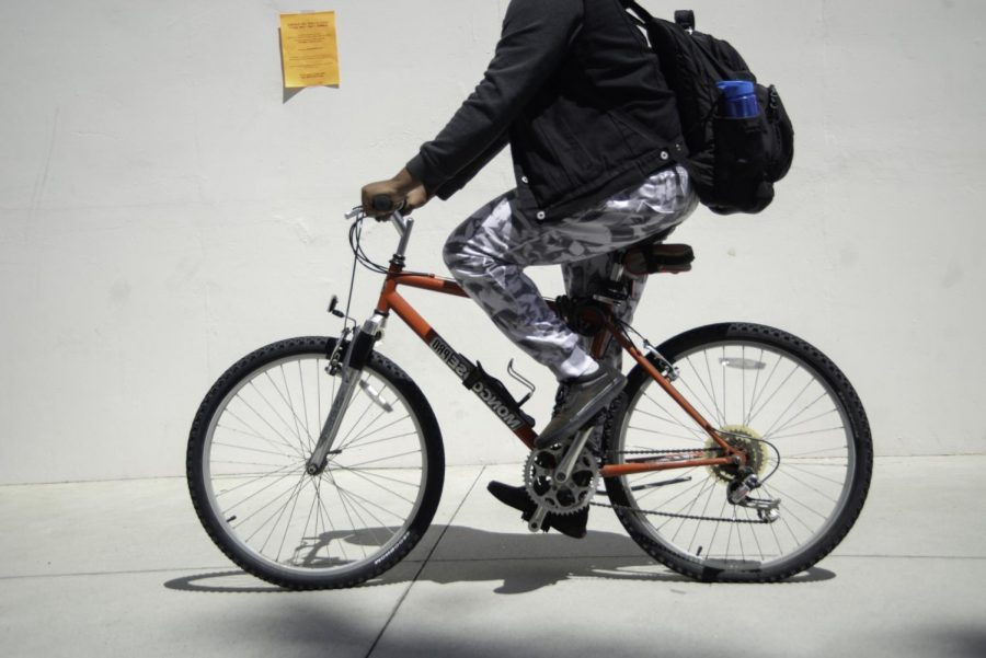 There has been a recent increase in bicycle thefts at El Camino College since Tuesday, May 14. Five bikes were stolen that week. Photo credit: Jun Ueda