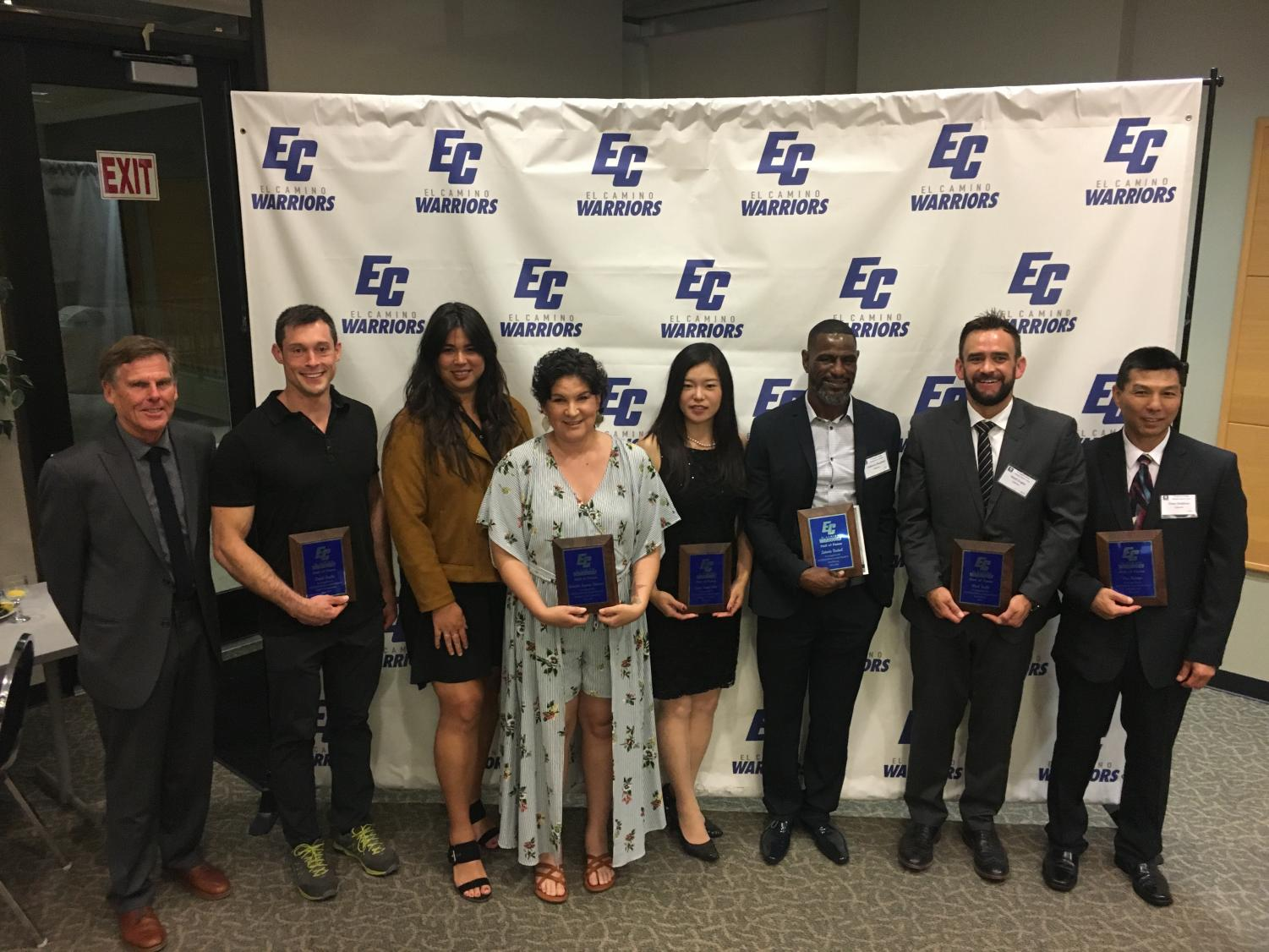 The newest members of the El Camino College Athletic Hall of Fame were inducted and honored Thursday, May 23, in the East Dining Room at El Camino College. The Athletic Hall of Fame class of 2019 includes 14 inductees and one team. Photo credit: Melanie Chacon