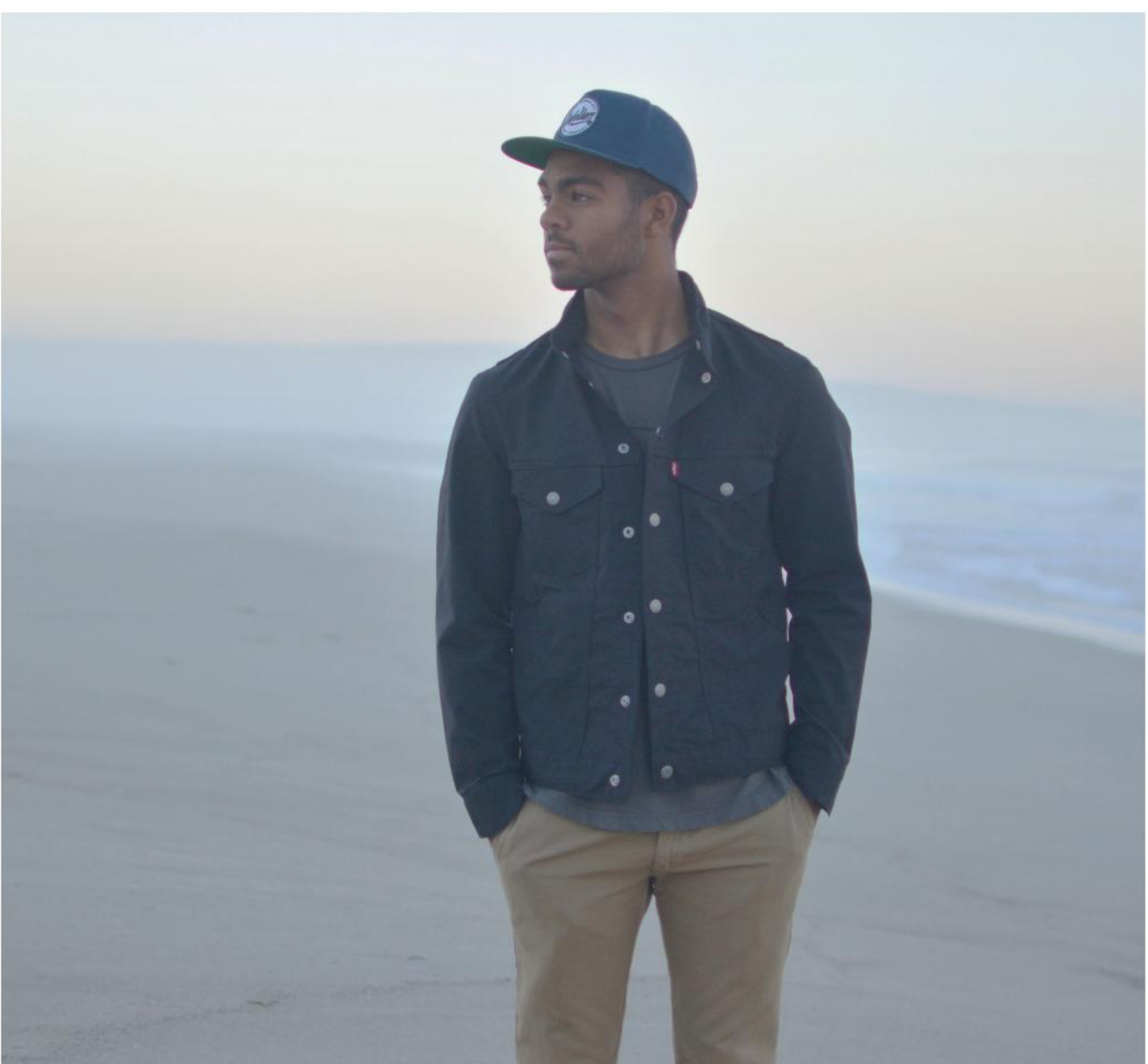 Hunter Jones moments before sunrise at Dockweiler State Beach during a photo shoot for Warrior Life magazine in 2016. Jones was a contestant on ABC's
