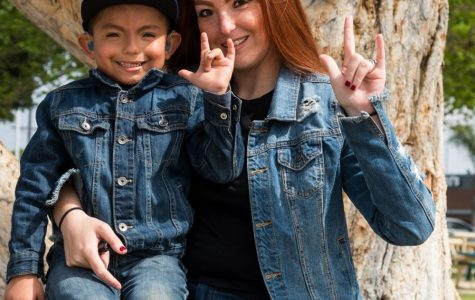Mother learns sign language to communicate with deaf son