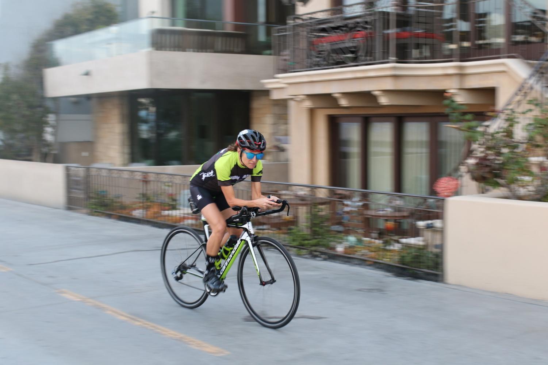 Megan Granich is a math professor at El Camino College and competes in triathlons. Photo credit: Kealoha Noguchi