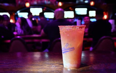 This is a Michelada (Estrella beer, Bloody Mary mix, fresh squeezed orange and lime, tajin rim), one of Baja Sharkeez's signature drinks, in a photo taken in Hermosa Beach on Friday, Oct. 19. This drink was made by bartender Matt Cortina, who is an El Camino College/UCLA alumnus. (Jack Kan/Union) Photo credit: Jack Kan