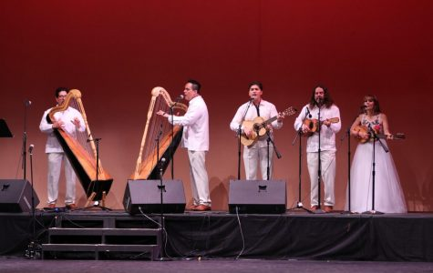 "Conjunto Heuyapan performs Sones Jarochos during ""Noche Mexicana 2019"", at the Marsee Auditorium, Friday, Sept. 13. This family band, founded in 1973 by professor Fermin Herrera of CSUN, have performed all over the U.S., including the Hollywood Bowl, the Kennedy Center and the Performing Arts in New York City and Washington D.C.  David Alonso/The Union"
