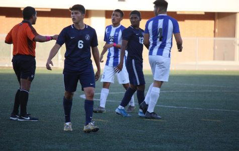 ECC men's soccer team's unbeaten run ended by Cerritos College