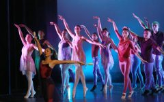 Dancers perform a choreography called