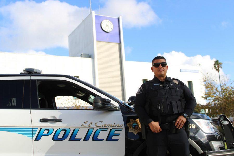 El Camino College Police Department officer Oscar Castro has been serving the campus since February of 2018.