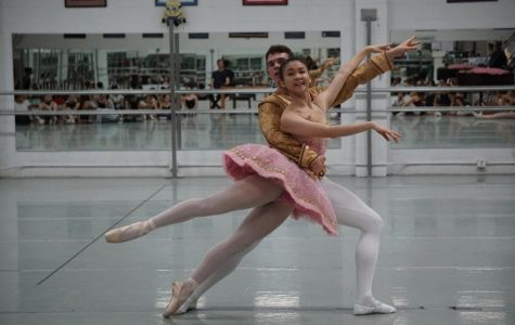 "Robert Mack and Natalie Chinn rehearse their duet for ""The Nutcracker"" on Saturday, Nov 23, at Lauridsen Ballet Centre. First performed in 1892 at St. Petersburg's Mariinsky Theatre, ""The Nutcracker"" has had a yearly venue at El Camino College for the last 25 years. Justin Traylor/ The Union"