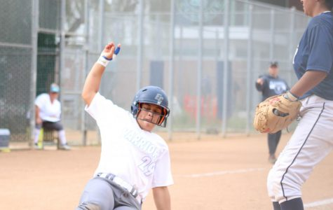 Softball team takes advantage of Los Angeles Harbor College's mistakes in commanding victory