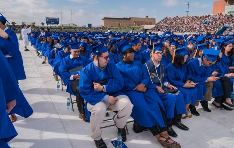 The largest graduation class at El Camino College to date attends graduation at Murdock Stadium on Friday, June 7, 2019. Due to coronavirus concerns, ECC commencement committee is making plans for a virtual graduation ceremony for this semester's Class of 2020. Elena Perez/The Union