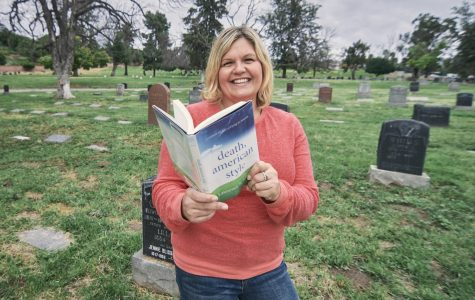Kassia Wosick, who teaches the Sociology of Death and Dying class at El Camino College, is shown here at Sunnyside Cemetery in Long Beach, California on March 14. In this course, she incorporates a mix of levity, life experiences and real-time events to help her students embrace, rather than fear, death. Cameron Klassen/The Union