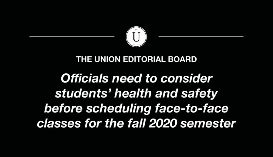 Officials should remain realistic, keep fall semester completely online