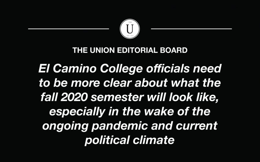 We need clarity: administrators need to clear up confusion about the fall 2020 semester