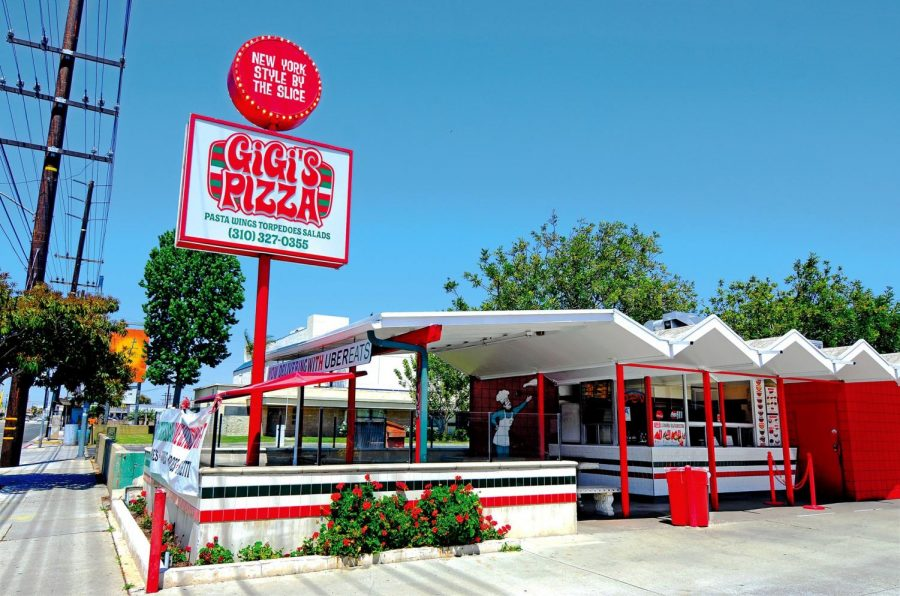 Gigi's Pizza has stood at this location, 16006 Crenshaw Blvd., since it opened as an Orange Julius in the 1960s. With few physical alterations, the storefront remains close to its original design.