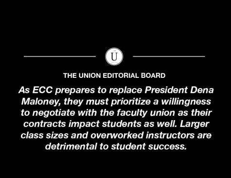 As ECC prepares to hire a new president, they must prioritize the needs of students and faculty