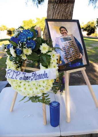 A memorial for El Camino College journalism student Juan Miranda was organized by fellow student journalists on Sunday, Feb. 21 at Kenneth Hahn Park in Los Angeles. Miranda who died at age 22 on Jan. 22, was a passionate and devoted young journalist, his friends and family said at the gathering. He was to begin his second term as editor-in-chief on the ECC Warrior Life Magazine. Photo by Gary Kohatsu/Special to the Union
