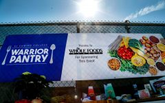 El Camino College's Warrior Pantry, with assistance from Whole Foods, held a special off-day Drive-Thru Pick Up Event in EC's parking lot B on Wednesday,  March 17. Normally the Warrior Pantry is only open on Tuesdays and Thursdays but was opened today for this event. (Mari Inagaki/ The Union) Photo credit: Mari Inagaki