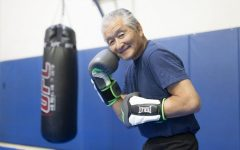 Mits Yamashita, age 75 in 2017, was a part-time boxing instructor, who first learned the art of jiu jitsu before becoming prolific in boxing training with the likes of Chuck Norris and Bruce Lee. (Reyna Torres/ The Union)
