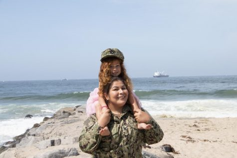 Lesley Mercado Navy Veteran at Vista Del Mar, El Segundo Beach April 10, 2021 Criminal Justice Student
