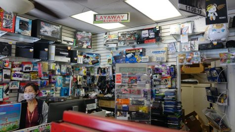 Bros. Game Shop in Torrance, CA. Retro video games along with console accessories can be found in stock. Torrance, CA. April 28, 2021. (Photo by Manuel Guzman/ Warrior Life)