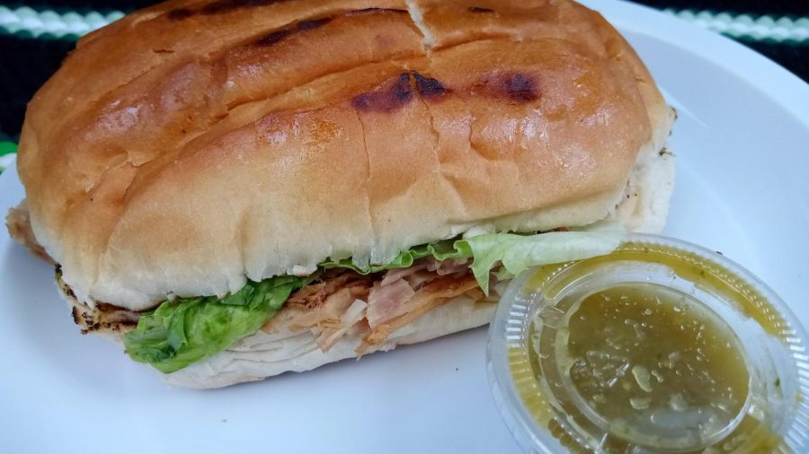Dayro Meat Market's Torta de Carnitas is a nice, hearty choice for anyone looking for something new to try. It's easy on the wallet, too. (Elsa Rosales /Warrior Life)