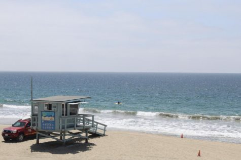 The shore at Redondo Beach located around 5 miles from El Camino College and a great spot for students to hang out. (Photo by Carolina Espinoza /Warrior Life)