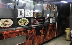 The menu of Rico's Tacos food truck, located in Torrance on Friday, Nov 20. (Photo by Margarita Sipaque/ Warrior Life)