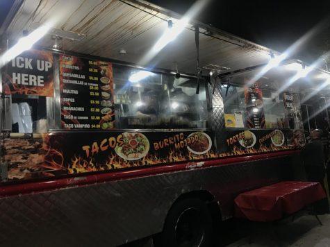 The menu of Tacos al Cabron, located in Gardena on Saturday, Nov 21. (Photo by Margarita Sipaque/ Warrior Life)